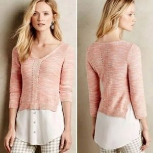 Anthropologie MOTH Aselin Layered Sweater Shirt XS